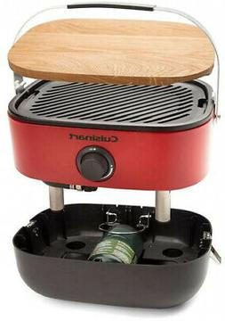Cuisinart Venture Portable Gas Grill with Handle, Red